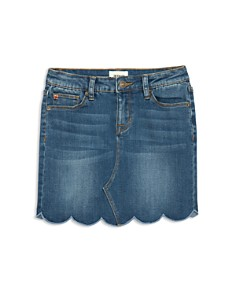 Hudson - Girls' Lori Scalloped-Hem Denim Skirt - Big Kid
