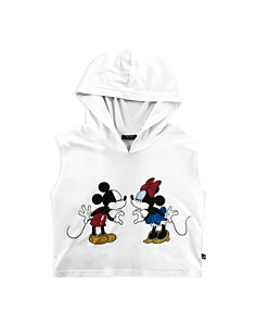 Terez - Girls' Disney Mickey Mouse & Minnie Mouse Hooded Tank - Big Kid