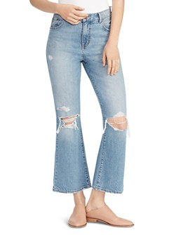 Ella Moss - High Rise Ankle Flared Jeans in Sessile