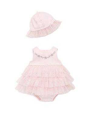 Little Me Girls Sweet Floral PopoverHat Tutu Top  Bloomers Set  Baby
