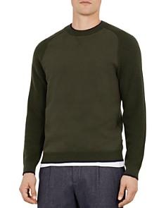 Ted Baker - Smug Jersey & Knit Crewneck Sweater
