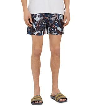 Ted Baker - Coastal Parrot Print Shorty Swim Shorts