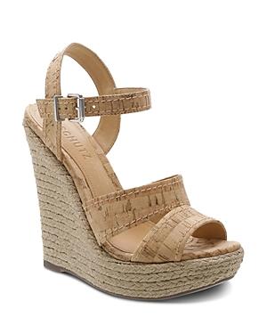 Schutz Sandals WOMEN'S DORIDA HIGH-HEEL WEDGE SANDALS