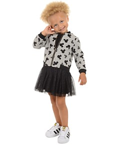 Pippa & Julie - Disney Girls' Mickey Reversible Bomber Jacket & Dress Set - Little Kid