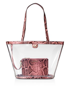 64b8d164bbf1 MICHAEL Michael Kors - Medium Rita Clear Bucket Tote Bag - 100% Exclusive  ...