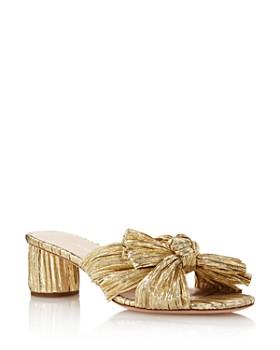94c658c451f Loeffler Randall - Women s Emilia Open-Toe Metallic Fabric High-Heel Slide  Sandals ...