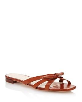 Loeffler Randall - Women's Eveline Leather Slide Sandals