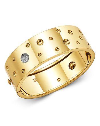 Roberto Coin - 18K Yellow Gold Pois Moi Luna Diamond Bangle Bracelet