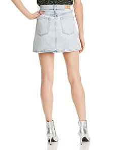 7 For All Mankind - Denim Mini Skirt in Cloud