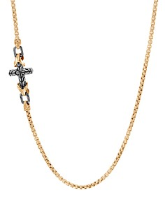 """JOHN HARDY - 18K Yellow Gold & Sterling Silver Classic Chain Cross Necklace, 26"""""""