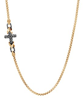 JOHN HARDY - 18K Yellow Gold & Sterling Silver Classic Chain Cross Necklace, 26""