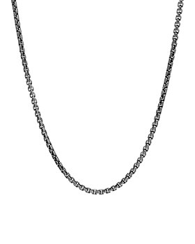 JOHN HARDY - Sterling Silver with Satin Matte Black Rhodium Classic Chain Necklace