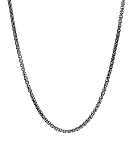 """JOHN HARDY - Sterling Silver with Satin Matte Black Rhodium Classic Chain Necklace, 26"""""""