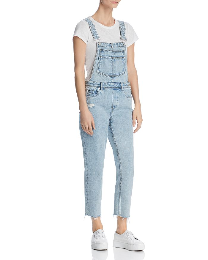 BLANKNYC - Distressed Cropped Overalls in Acid Trip
