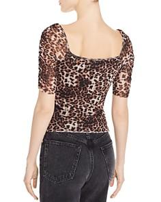 Cotton Candy LA - Ruched Leopard-Print Top - 100% Exclusive