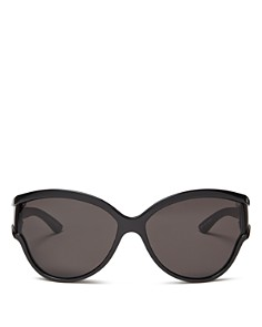 Balenciaga - Women's Oversized Cat Eye Sunglasses, 63mm