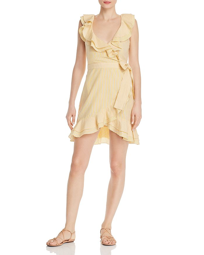 Saylor - Striped Ruffle Dress