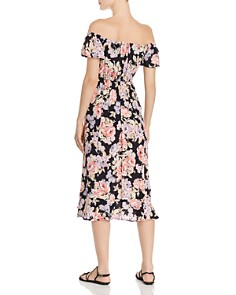 Band of Gypsies - Santiago Floral Off-the-Shoulder Midi Dress
