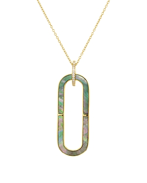 Argento Vivo Oval Mother-of-Pearl Pendant Necklace in 18K Gold-Plated Sterling Silver, 24
