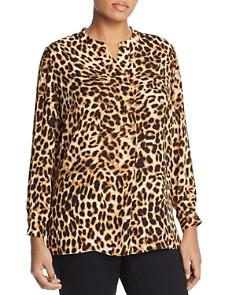 VINCE CAMUTO Plus - Leopard Print Top