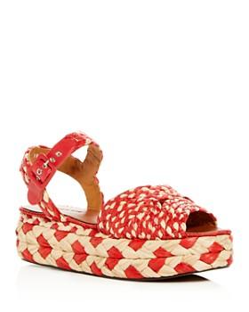 Clergerie - Women's Artemis Woven Platform Sandals