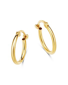 Moon & Meadow - 14K Yellow Gold Tiny Hoop Earrings - 100% Exclusive