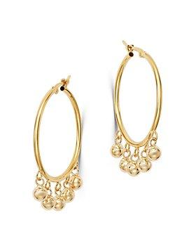 Bloomingdale's - Dangling Spheres Hoop Earrings in 14K Yellow Gold - 100% Exclusive