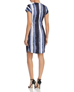 Kenneth Cole - Printed Origami Pleat Dress