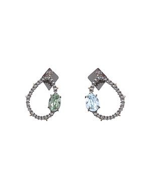 Alexis Bittar Jewelry CRYSTAL ENCRUSTED MISMATCHED EARRINGS