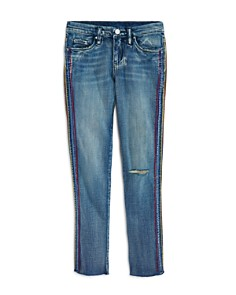 BLANKNYC - Girls' Embroidered-Taping Skinny Jeans - Big Kid