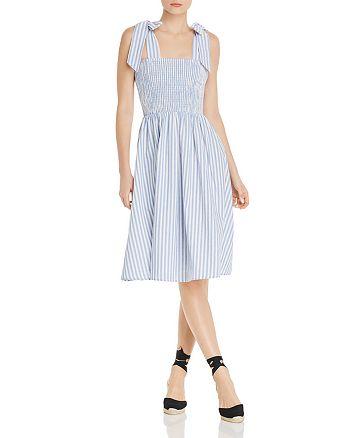 483f519dea AQUA Sleeveless Striped Smocked Midi Dress - 100% Exclusive ...