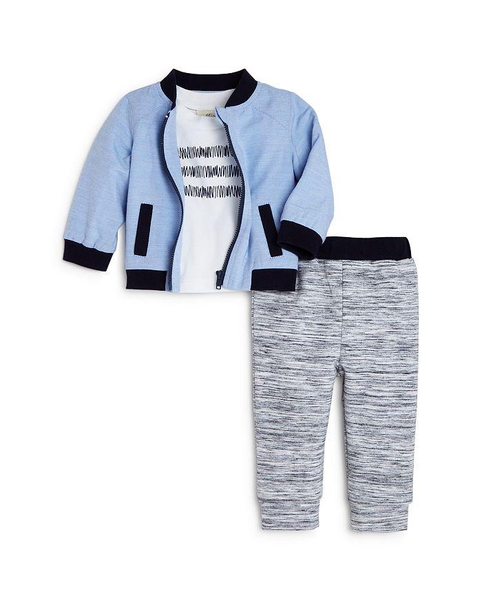 Miniclasix - Boys' Baseball Jacket, Tee & Jogger Pants Set - Baby
