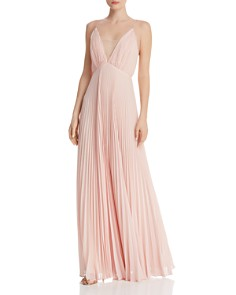 Jill Jill Stuart - Pleated Deep-V Gown