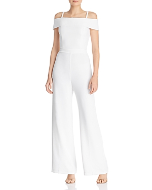Laundry By Shelli Segal Suits LAUNDRY BY SHELLI SEGAL COLD-SHOULDER JUMPSUIT