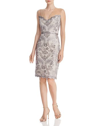 Tadashi Shoji - Sleeveless Sequin-Embellished Sheath Dress