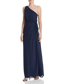 WAYF - Penny One-Shoulder Wrap Dress