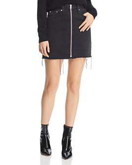 rag & bone - Anna Zip-Front Denim Skirt