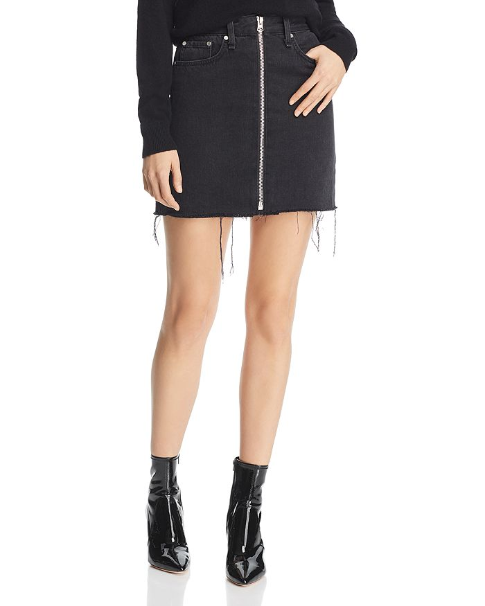 724d79d19 rag & bone/JEAN rag & bone Anna Zip-Front Denim Skirt   Bloomingdale's