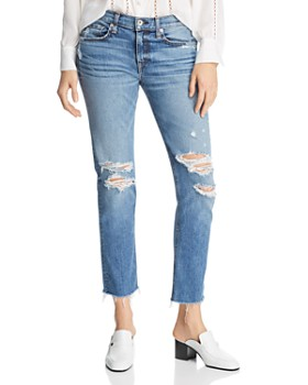 rag & bone - Ankle Distressed Boyfriend Jeans in Marie Hole