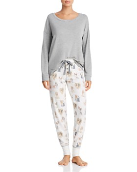 PJ Salvage - High Low Top   Dog-Print Joggers fede67d57
