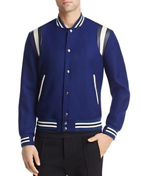 Paul Smith - Stripe Trim Varsity Jacket