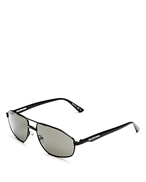 Balenciaga Men\\\'s Vintage Brow Bar Aviator Sunglasses, 58mm-Men
