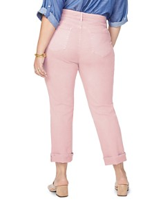 NYDJ Plus - Marilyn Straight-Leg Cuffed Ankle Jeans in Pueblo Rose