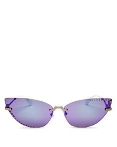 Kenzo - Women's Embellished Mirrored Cat Eye Sunglasses, 67mm