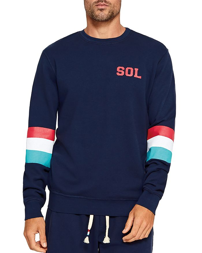 SOL ANGELES - Striped-Sleeve Sweatshirt