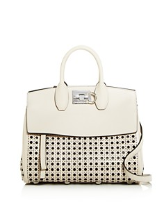 Salvatore Ferragamo - Studio Medium Laser Cut Leather Shoulder Bag