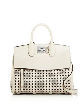 e21676e791dd1a Salvatore Ferragamo - Studio Medium Laser Cut Leather Shoulder Bag ...