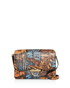 Salvatore Ferragamo - Joanne Large Classic Flap Snakeskin Shoulder Bag