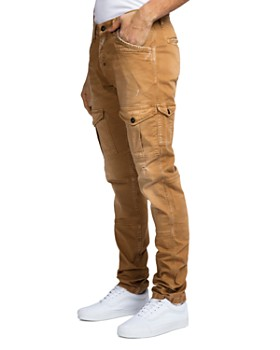 PRPS - Faded Slim Fit Stretch Cargo Pants in Khaki