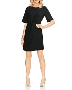 VINCE CAMUTO - Tie-Waist Crepe Dress